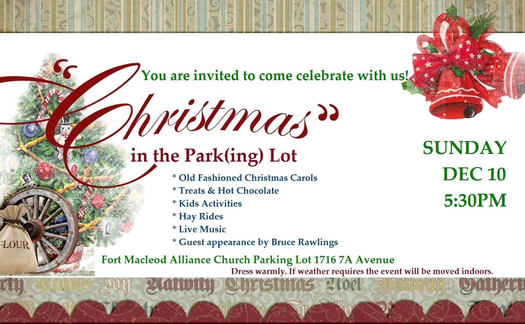 Christmas in the Park(ing) Lot | Town of Fort Macleod